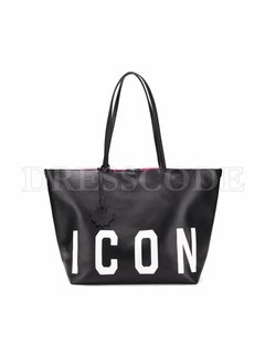 1. DSQUARED2 Dsquared2 shopper Icon Zwart