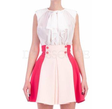 ecb6a5fd82635a ELISABETTA FRANCHI Elisabetta Franchi jurk met blousetop en uitlopende rok  Multicolor