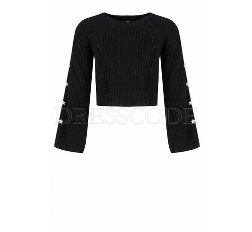 2. ELISABETTA FRANCHI Elisabetta Franchi zwarte gebreide sweater