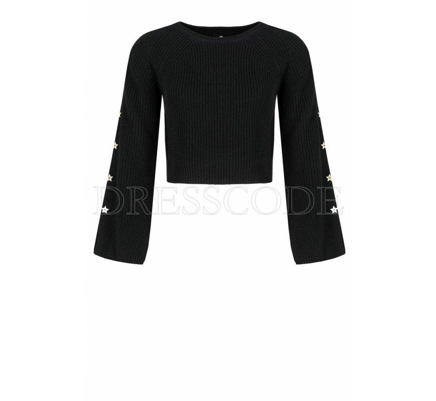 Elisabetta Franchi zwarte gebreide sweater