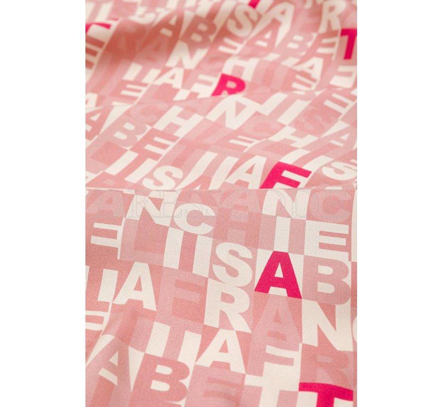 Elisabetta Franchi roze sjaal groot model
