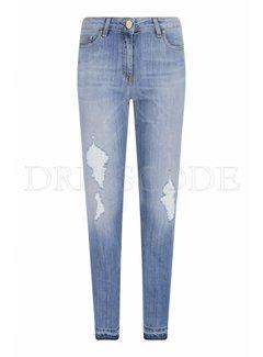 2. ELISABETTA FRANCHI Elisabetta Franchi skinny jeans met scheuren HW blauw
