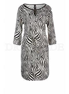 MARC CAIN Marc Cain jurk in zebra-print Beige