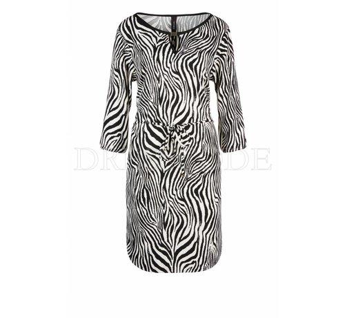 MARC CAIN Marc Cain beige jurk in zebra-print