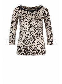 MARC CAIN Marc Cain top in dierenprint Beige