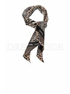 MARC CAIN Marc Cain kleine sjaal in dierenprint Beige