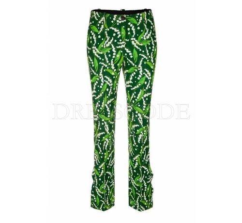 MARC CAIN Marc Cain groene pantalon met print