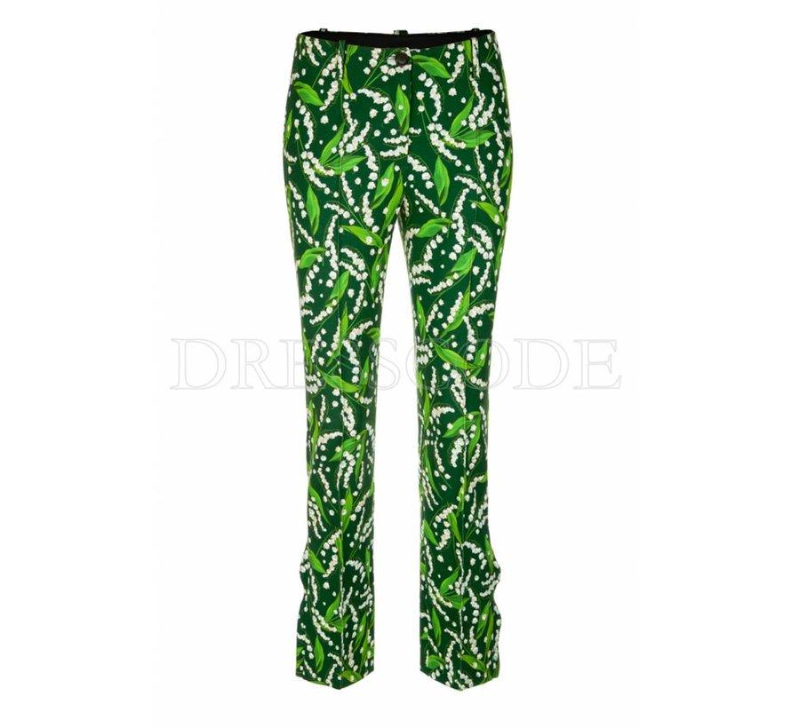 Marc Cain groene pantalon met print