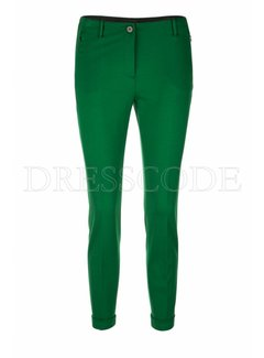 MARC CAIN Marc Cain pantalon met omslag Groen