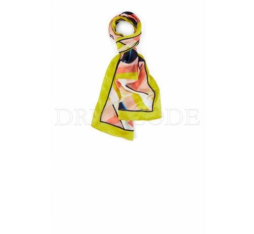 MARC CAIN Marc Cain zijden lange multicolor sjaal