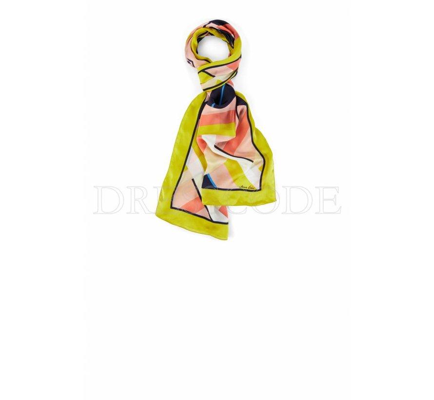 Marc Cain zijden lange multicolor sjaal