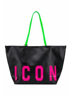 1. DSQUARED2 Dsquared2 shopper mte ICON in roze Zwart