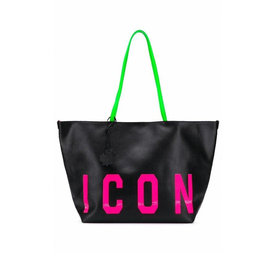 Dsquared2 shopper mte ICON in roze Zwart