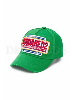 1. DSQUARED2 Dsquared2 pet met DSQUARED in rood Groen