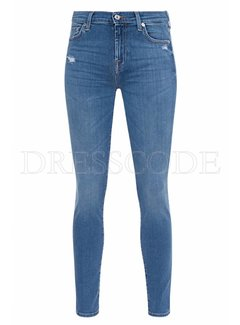 7. SEVEN FOR ALL MANKIND 7 For all mankind jeans met swarovki kristallen op zakken Blauw