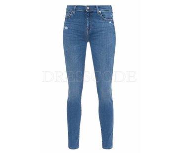 7. SEVEN FOR ALL MANKIND 7 For all mankind jeans met swarovki kristallen op zakken Blauw