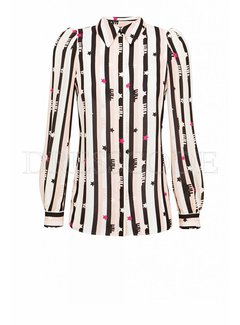 2. ELISABETTA FRANCHI Elisabetta Franchi blouse in print van strepen en sterren Multicolor