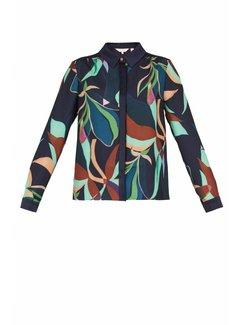 TED BAKER Ted Baker gekleurde blouse met kraag Abilan Blauw