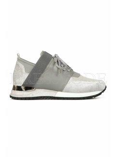 MALLET Mallet sneaker elast grey velvet Grijs