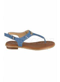 9. MICHAEL KORS Michael Kors sandaal MK plate in denim Blauw