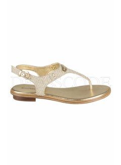 9. MICHAEL KORS Michael Kors sandaal plate thong glitter Goud