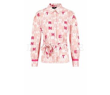 2. ELISABETTA FRANCHI Elisabetta Franchi blouse met letter print Roze