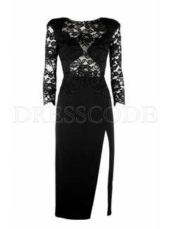 2. ELISABETTA FRANCHI Elisabetta Franchi jurk met kanten bovenstuk Zwart