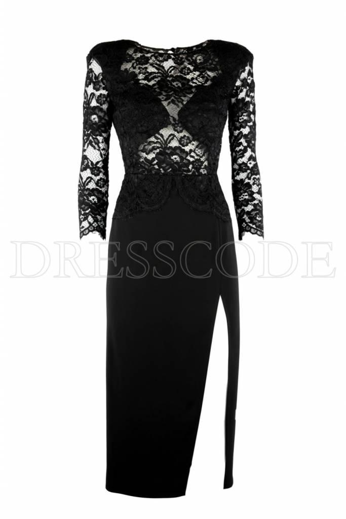Bovenstuk Met Zwarte Jurk Elisabetta Kanten Dresscode Franchi RL54qAj3c