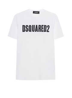 1. DSQUARED2 Dsquared2 t-shirt met logoletters Wit