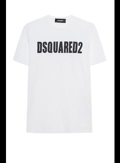1. DSQUARED2 Dsquared2 t-shirt met logoletters Wit