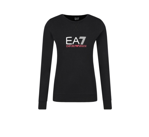 ARMANI EA7 Armani EA7 sweater met wit EA7 logo Zwart