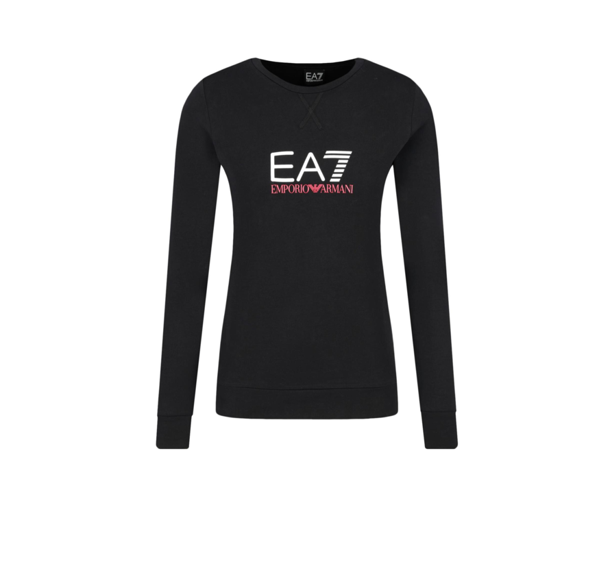 Armani EA7 sweater met wit EA7 logo Zwart