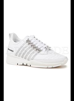 1. DSQUARED2 Dsquared2 sneaker met glitterstrepen Wit