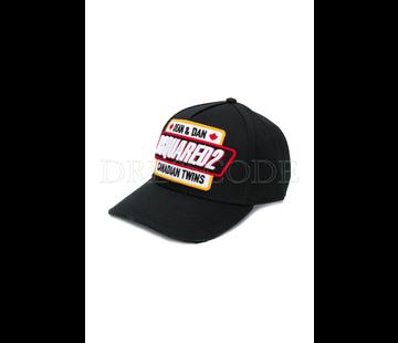 1. DSQUARED2 Dsquared2 baseball cap met logo Zwart