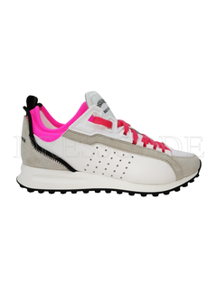 1. DSQUARED2 Dsquared2 sneaker wit met neon roze Wit
