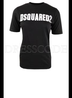 1. DSQUARED2 Dsquared2 t-shirt met logoletters Zwart