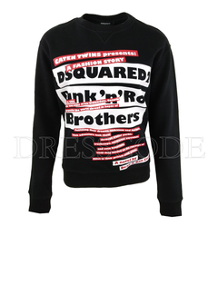 1. DSQUARED2 Dsquared2 Punk 'n Roll sweater Diana fit zwart