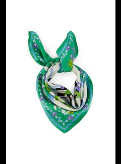 MARC CAIN Marc Cain zijden sjaal in bloemenprint Groen