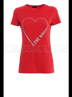8. MOSCHINO Moschino t-shirt open hart Rood