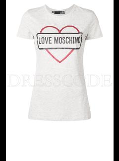 8. MOSCHINO Love moschino t-shirt met hart en merknaam Grijs