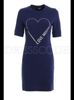 8. MOSCHINO Moschino sweaterjurk open hart Blauw
