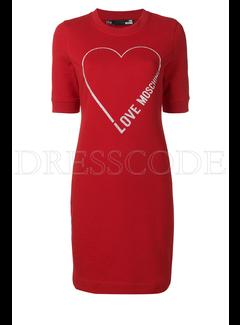 8. MOSCHINO Moschino sweaterjurk met open hart Rood