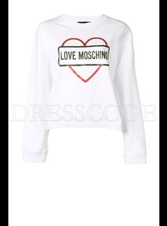 8. MOSCHINO Love Moschino sweater met hart en merknaam Wit