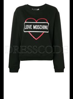 8. MOSCHINO Love Moschino sweater met hart en merknaam Zwart