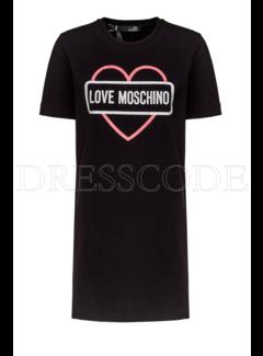 8. MOSCHINO Love Moschino sweaterdress met hart en merknaam Zwart