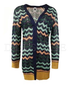 6. MISSONI Missoni vest in patroon en lurex Blauw