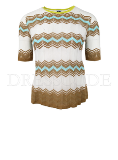 6. MISSONI Missoni top in zigzag print Wit