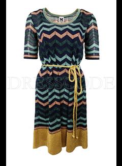 6. MISSONI Missoni jurk in zigzag print Blauw
