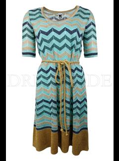 6. MISSONI Missoni uitlopende jurk in zigzag patroon Groen
