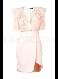 2. ELISABETTA FRANCHI Elisabetta Franchi jurk met kanten top Roze
